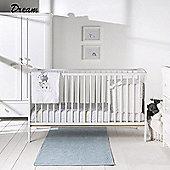 East Coast Hudson 3 Piece Nursery Room Set with Sprung Mattress (White)