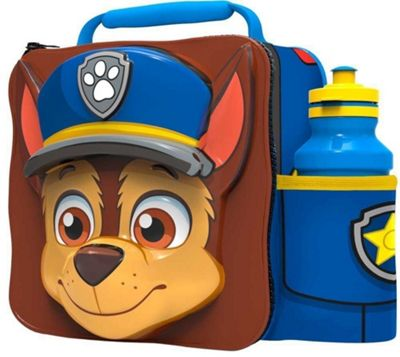 Paw Patrol 'Chase' 3d Lunch Bag with Bottle Box