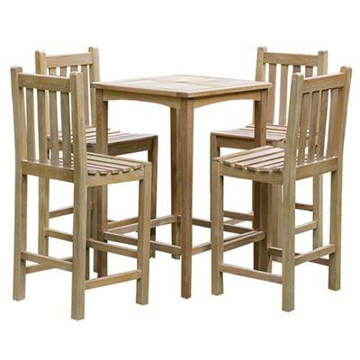 Brackenstyle Teak Warwick Bar Table Set - Seats 4