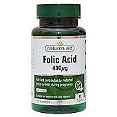 Natures Aid Folic Acid 400ug - 90 Tablets