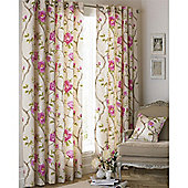 Riva Home Rosemoor Eyelet Curtains - Fuchsia