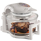 Andrew James Halogen Oven 12 Litre with Hinged Lid & Accessories Pack - White