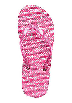 F&F Glitter Flip Flops - Pink