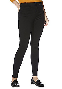 F&F Contour Push-Up High Rise Skinny Jeans - Black