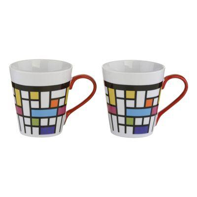 BIA Mosaic Mugs, Set of 2