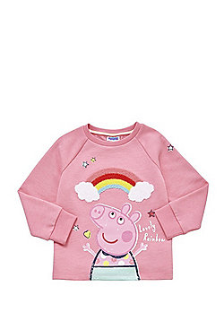 Peppa Pig Boucle Rainbow Sweatshirt - Pink