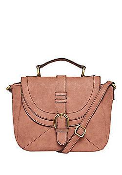 F&F Buckle Detail Distressed Cross-Body Bag