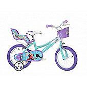Disney Frozen 14inch Balance Bike Blue - DINO Bikes