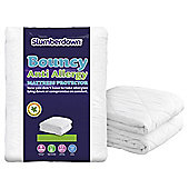 Slumberdown Bouncy Anti Allergy Mattress Protector, King Size