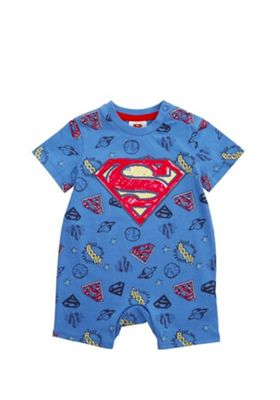 DC Comics Superman Romper Blue/Red 3-6 months