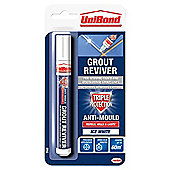 UniBond Triple Protection Grout Reviver Pen, Ice White