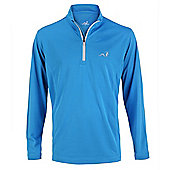 Woodworm Golf Mens 1/4 Zip Pullover / Sweater / Jumper - Baby blue