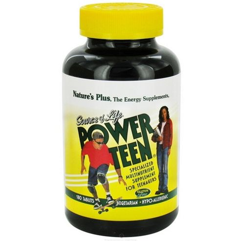 Source Of Life Power-Teen - Multi Vitamin With Whole Foods For Teenagers, 180