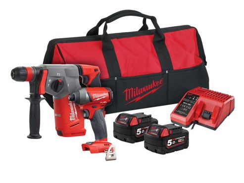 Milwaukee M18 FPP2AC-502 FUEL Twin Pack 18V 2 x 5.0Ah Li-ion