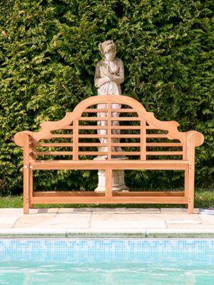 Teak Garden Bench Lutyens - 198cm length