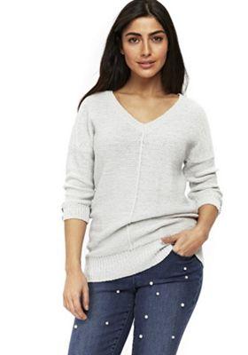 Wallis Textured V-Neck Tunic Grey L
