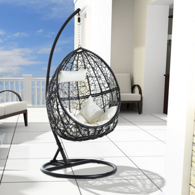 Buy Outsunny Garden Rattan Swing Chair Egg Hanging Seat W
