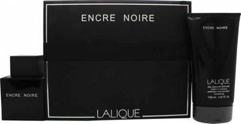 Lalique Encre Noire Gift Set 100ml EDT + 150ml Shower Gel For Men