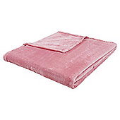 Tesco Supersoft Pink Throw
