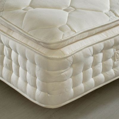 Hy Beds Dorchester 2000 Pocket Spring Pillowtop Mattress 2ft6 Small Single