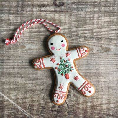 Iced Gingerbread Man Decoration