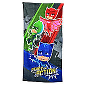 Disney PJ Masks 'Ready For Action' Printed 100% Cotton Beach Towel