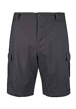 Mountain Warehouse Mens Casual Shorts 100% Twill Cotton with Multiple Pockets - Grey