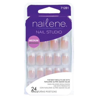 Nailene Nail Studio Artificial Nails Medium French 71281