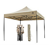 All Seasons Gazebos, Heavy Duty, Fully Waterproof, 3m x 3m Pop up Gazebo in Beige