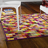 Retro Pixel Rugs in Multi 120x160cm