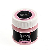 Trimits Fabric Paint Rose 50ml