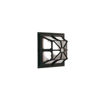 Black Up Ceiling Flush Lantern - 1 x 100W E27