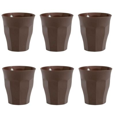 Duralex Picardie Coloured Espresso Glasses - 90ml - Brown - x6