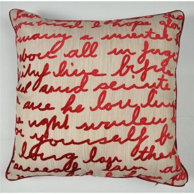 Mason Grey Stratton Red Cushion Cover - 43x43cm