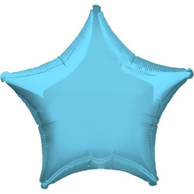 Light Blue Star Balloon - 19 inch Foil