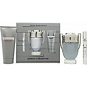 Paco Rabanne Invictus Gift Set 100ml EDT Spray + 100ml Shower Gel + Mini 10ml EDT For Men