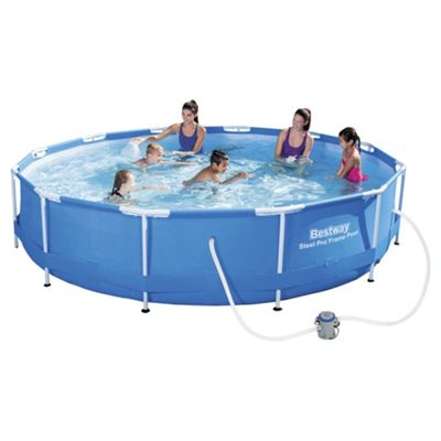 Bestway 12ft Steel Pro™ Frame Pool Set with pump (6,473L)
