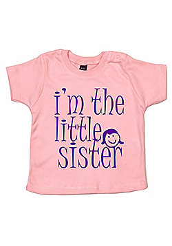 Dirty Fingers I'm the Little Sister Baby T-shirt - Pink