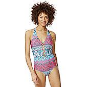 F&F Criss Cross Halterneck Swimsuit - Multi