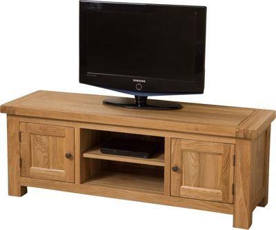 Cottage Solid Oak Widescreen TV Unit