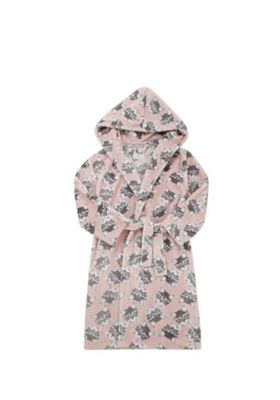 F&F Cat Face Fleece Dressing Gown Pink 9-10 years