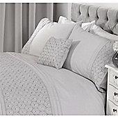 Rapport Everdean Silver Boudoir Cushion -30x50cm