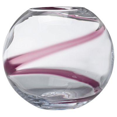 Tesco Plum Swirl Bowl Vase Large