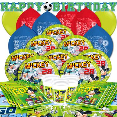 Mickey Goal Deluxe Party Pack for 16