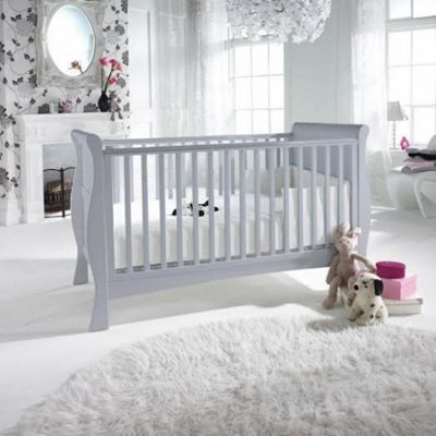 Izziwotnot Bailey Sleigh Cot Bed (Soft Grey)