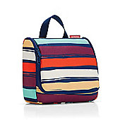 Reisenthel Hanging Travel Toilet Wash Bag, 23x20cm in Artist Stripes Design