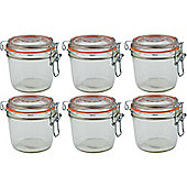 Argon Tableware Preserving / Jam Glass Storage Jars - 350ml - Pack of 6