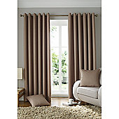 Alan Symonds Lined Solitaire Eyelet Curtains - Beige
