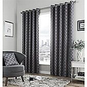 Fusion Denby Eyelet Curtains - Charcoal