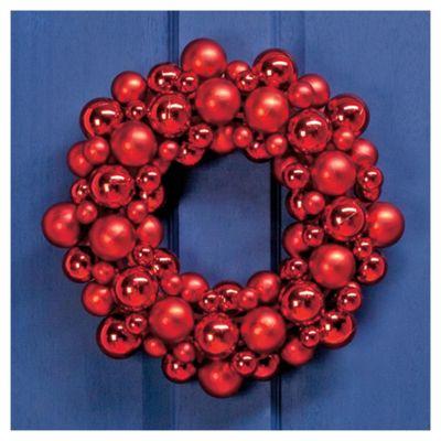 Tesco Red Bauble Wreath